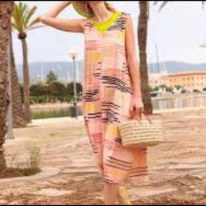 Gudrun Sjoden Capri Abstract Modern Knit Dress S